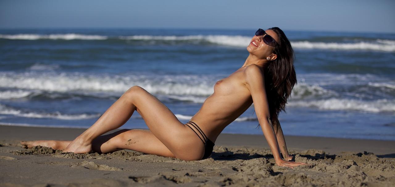 smiling beach photo